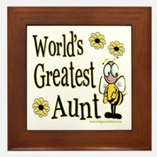 Aunt Bumble Bee Framed Tile