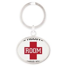 Recovery Room Oval Keychain