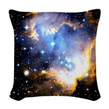 Star Cluster Woven Throw Pillow