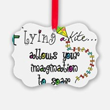 flying a kite 2013 Ornament