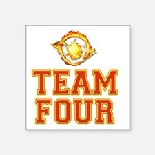 "Team Four Divergent Square Sticker 3"" x 3"""