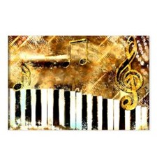 Piano: Abstract Music Mot Postcards (Package of 8)