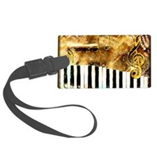 Piano: Abstract Music Motif Luggage Tag
