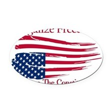Legalize Freedom, Restore the Cons Oval Car Magnet