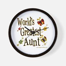 Aunt Butterflies Wall Clock