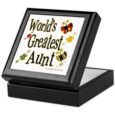 Aunt Butterflies Keepsake Box