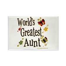 Aunt Butterflies Rectangle Magnet
