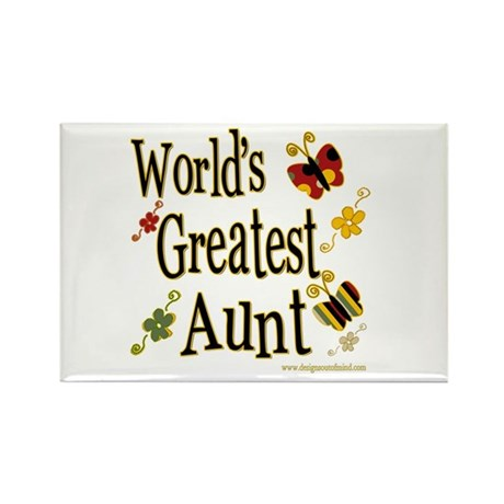 Aunt Butterflies Rectangle Magnet