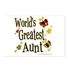 Aunt Butterflies Postcards (Package of 8)