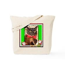 Sable Burmese Xmas Tote Bag