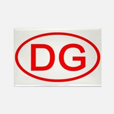 DG Oval (Red) Rectangle Magnet