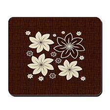 Brown floral design Mousepad