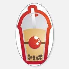 Bubble Tea Sticker (Oval)