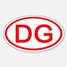 DG Oval (Red) Oval Decal