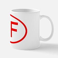 DF Oval (Red) Mug