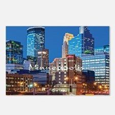 Minneapolis_3.7X3.7_Downt Postcards (Package of 8)