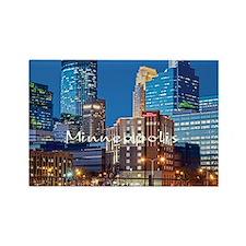 Minneapolis_3.7X3.7_Downtown Rectangle Magnet