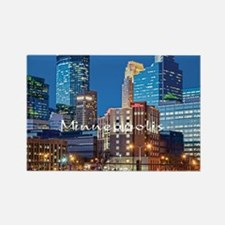 Minneapolis_3.7X3.7_Downtown Rectangle Magnet