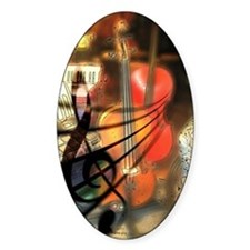 Violin in Abstract Artwork Design Decal