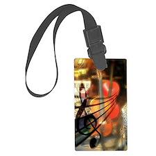 Violin in Abstract Artwork Desig Luggage Tag