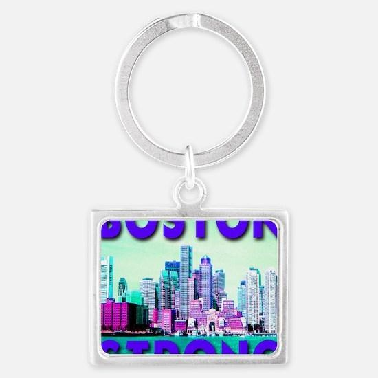 Boston Strong Skyline Landscape Keychain