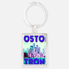 Boston Strong Skyline Portrait Keychain