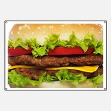 hamburger banners signs vinyl banners banner designs cafepress. Black Bedroom Furniture Sets. Home Design Ideas