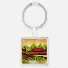 Burger Me Square Keychain