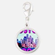 Boston Strong Skyline Silver Round Charm