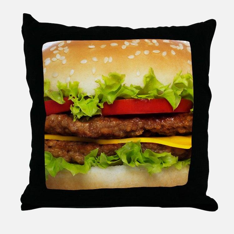Burger Me Throw Pillow