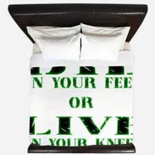 Die or Live Green King Duvet