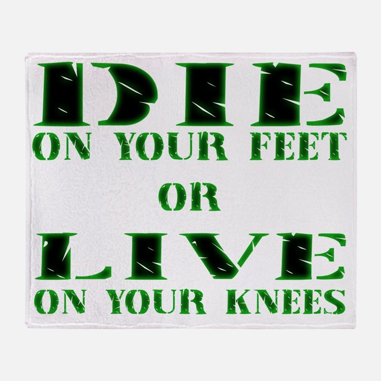 Die or Live Green Throw Blanket