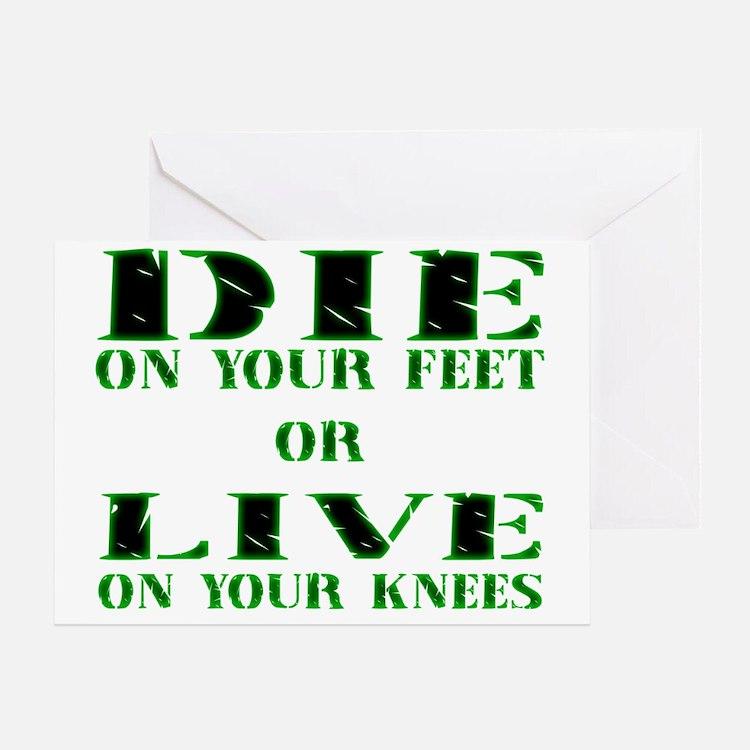 Die or Live Green Greeting Card