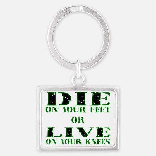 Die or Live Green Landscape Keychain