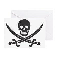 Pirate Black Greeting Card