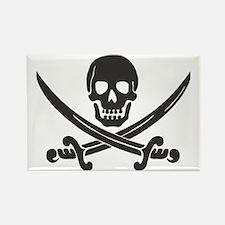 Pirate Black Rectangle Magnet