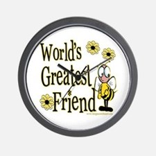 Friend Bumble Bee Wall Clock