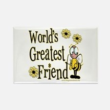 Friend Bumble Bee Rectangle Magnet