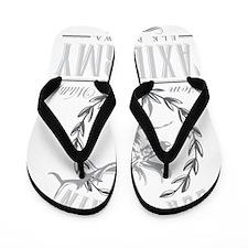 elk plain taxidermy logo Flip Flops