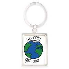one earth Portrait Keychain