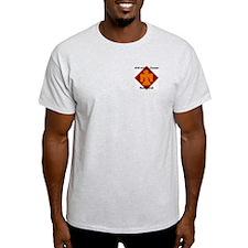 Ash Grey T-Shirt w/ WWII Campaigns