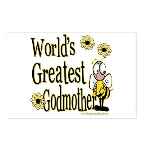 Godmother Bumble Bee Postcards (Package of 8)