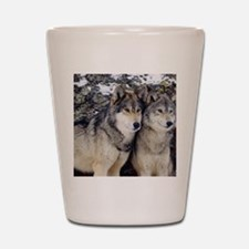 Wolf Couple Shot Glass