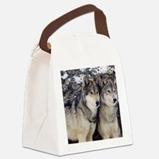 Wolf Couple Canvas Lunch Bag