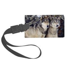 Wolf Couple Luggage Tag