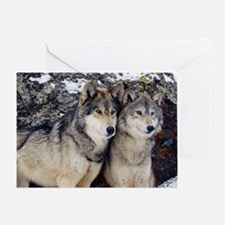 Wolf Couple Greeting Card