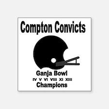 """Compton Convicts Ganja Bowl Square Sticker 3"""" x 3"""""""