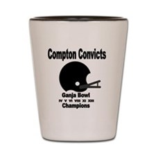 Compton Convicts Ganja Bowl Champions Shot Glass