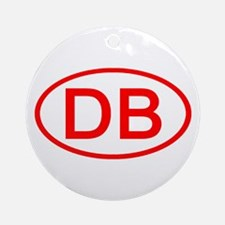 DB Oval (Red) Ornament (Round)