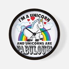 Unicorns Are Fabulous Wall Clock